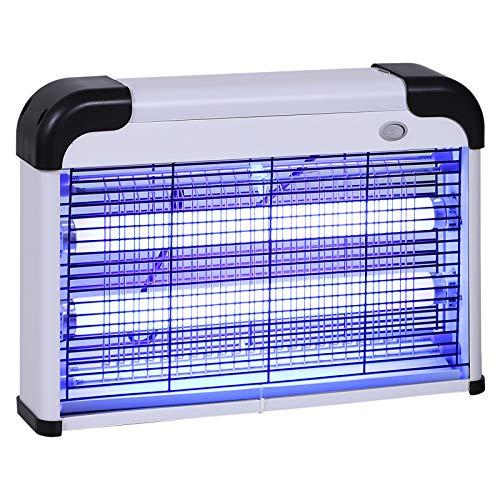 Outsunny Lampe UV Anti-Insectes Anti Moustique Tue Mouche électrique...