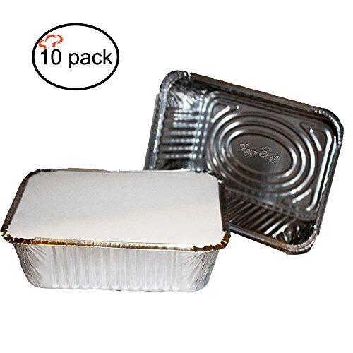 Recipientes de aluminio con tapa rectangulares y duraderos de TigerChef