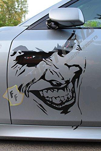 Finest Folia Joker Batman Aufkleber Sticker Dekor Folie Autoaufkleber KX011 (Joker groß ohne Schrift)