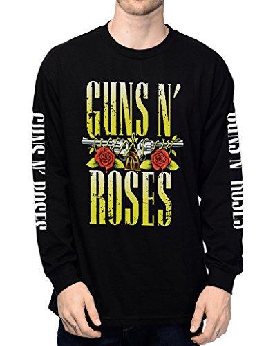 Guns N Roses GNR Appetite For Destruction Skull Logo Long Sleeve Men's T-Shirt X-Large Black
