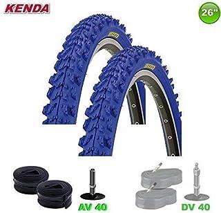 2x Kenda MTB Neumático de la bicicleta cubierta + 2 Mangueras av- 26 X 1.95