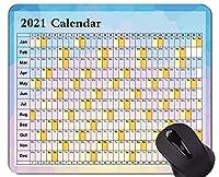 2021カレンダーゴールデンプレミアムゲーミングマウスパッド、抽象的な花粉ノンスリップゴムマウスパッド