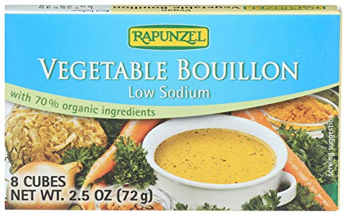 Rapunzel Pure Vegan Vegetable Bouillon, No Salt Added, 8 Cubes, 2.4-Ounce Packages (Pack of 6)