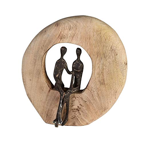 Casablanca - Skulptur - Dekofigur - Paar - Mangoholz/Alu - Höhe 24cm