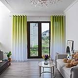 BOYOUTH Cortinas semiopacas con ojales, cortinas de color degradado superior, para dormitorio, sala de estar, verde, 59 x 106 pulgadas, 2 paneles