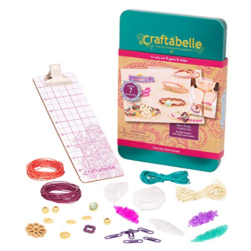Craftabelle – Basic Braids Creation Kit – Bracelet Making Kit – 42pc Jewelry Set with Beads – DIY Jewelry Kits for Kids Aged 8 Years +