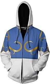 Unisex Street Fighter 5 Series Chun Li with 3D Sweater Hoodie Sweatshirt Zip Jacket