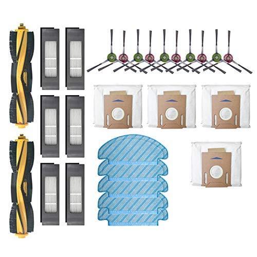 DONGYAO Cepillos de rodillos Filtros Paños de fregona Bolsas de polvo Cepillos laterales para DEEBOT OZMO T8 Partes de aspirador Accesorios Partes de aspirador