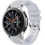 Dirrelo Cinturino Compatibile con Samsung Galaxy Watch 3 45mm/Galaxy Watch 46mm/Huawei GT 2 46mm,22mm Sportivi Cinturini Morbido Silicone per Samsung Gear S3 Frontier,Uomo Donna,Grigio Chia