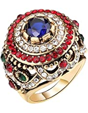 Bohemian Style Crystal Hollow Ring