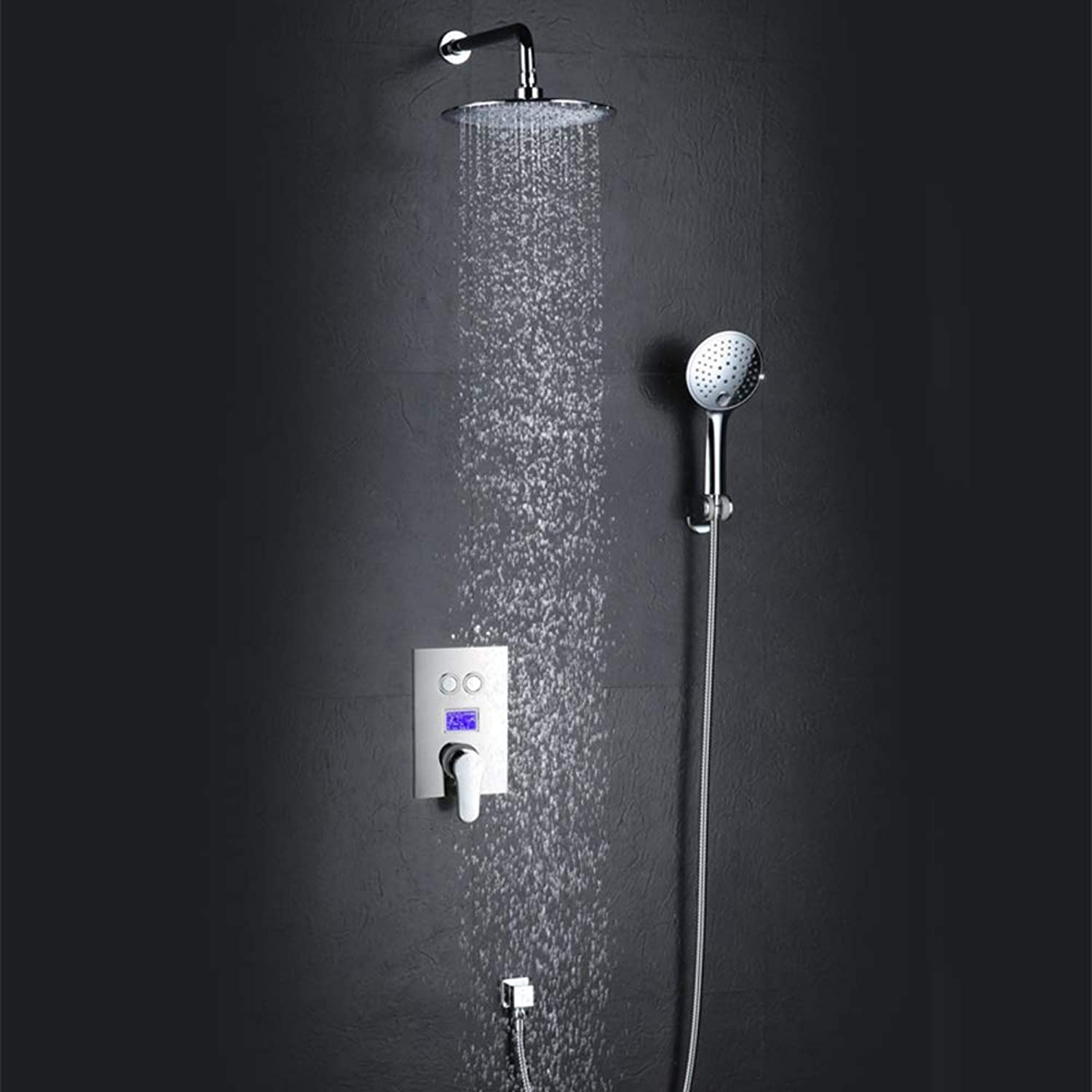 ZXF Hot UP-Duschset Wasserkraft Intelligente Digitalanzeige Anti-Hot-Duschset Badezimmer Baden