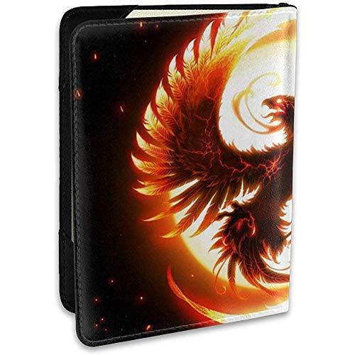 Magic Art Firebird Phoenix Funda de Cuero Personalizada para Pasaporte Funda de Cuero Funda de Viaje