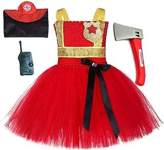 Chunks of Charm Lil Fire Chief Costume Tutu Dress Set from
