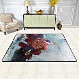 Novelty Anti-Skid Area Rug 36'x24', Japanese Anime Naruto Minato Gamabunta Toad Mat Carpet Quick Drying, Super Thick Floor Mat for College Dorm Flooring Living Room