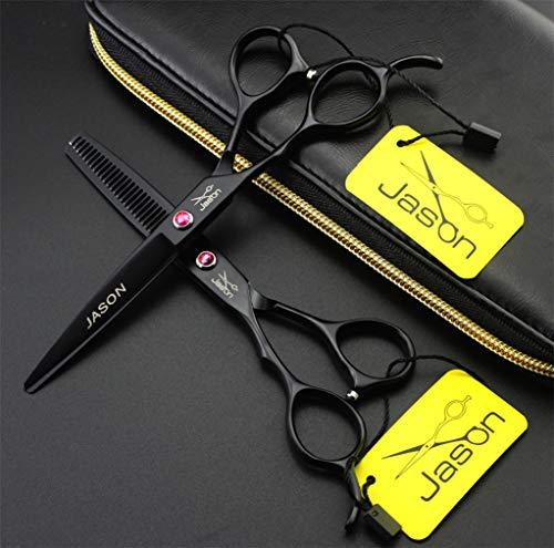 Professional 5.5/6.0 Pulgada zurda Izquierda Peinatura Barbero Sistemas de Peluquero Set Peluquería Tijeras de Adelgazamiento Exclusivo 440C Acero Sharp Sharp Hairdresser Cortes de Pelo,5.5inch