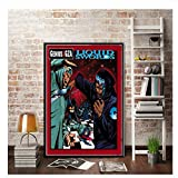Wu-Tang Clan Gza Liquid Swords Rapper Music Group Stars Poster And Prints Wall Art Canvas Painting For Home Room Decor-50x70cm No Frame