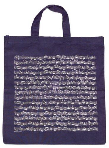 Wenen Wereld Muzikanten Gift Handtas/Shopper Vet Ontwerp Blad Muziek Tas marineblauw