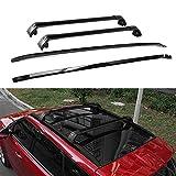 4Pcs Crossbar Roof Rail Rack Kit Se adapta a Range Rover Evoque 2010-2019 Portaequipajes Portaequipajes Negro con cerradura Ajustable Anti-robo