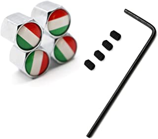 5 Teile/Satz Reifen Ventil Staubkappen Diebstahl Italien Nationalflagge Zink Legierung für Autos VW Audi Toyota Honda BMW Benz