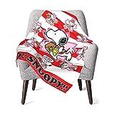 AEMAPE Versuchen Sie es erneut Snoopy Babydecke oder Flauschige Decke für Kinder Unisex-Decke für Kinderbett Couch Travel Superweiche warme Kinderdecke 50x40in