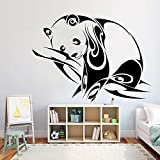BailongXiao Panda Adhesivos de Pared Animal habitación Infantil jardín de Infantes calcomanías de Pared de Vinilo decoración del hogar Sala de Estar Decoraciones de Aula 55x75cm