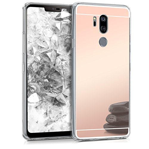 kwmobile LG G7 ThinQ/Fit/One Hülle - Handyhülle für LG G7 ThinQ/Fit/One - Handy Case in Rosegold spiegelnd