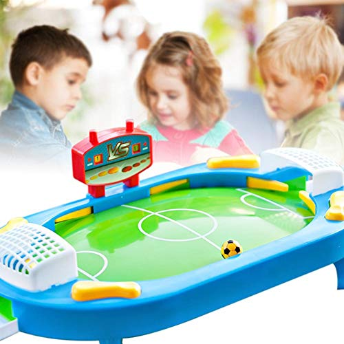 MezoJaoie mini tafelvoetbal spel, draagbare tafelblad voetbal mini voetbal bordspel interactieve 2 spelers sport spel leuk speelgoed voor kinderen volwassen