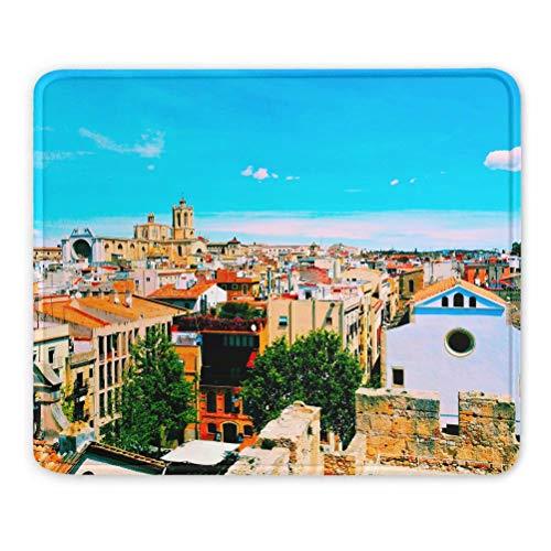 Spagna Cattedrale , Tarragona Mouse pad regalo souvenir 7,9 x 9,5 in 3 mm pad in gomma