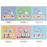 Tarjetas de felicitación de frutas, juegos de aprendizaje para niños, tarjetas de aprendizaje, educación de regalos para niños, 20 páginas / juego (letras + números + formas)
