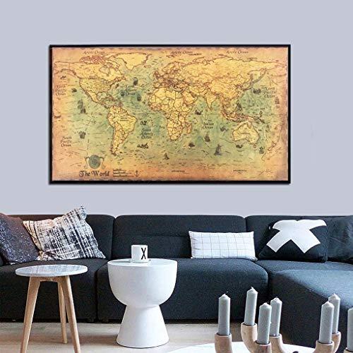 Lemoning Wall Sticker, Vintage Nautical Ocean Sea World Map Sticker Paintings Home Decor Wall Art