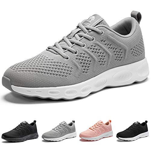 CAMEL CROWN Womens Fashion Sneakers Lightweight Casual Athletic Running Walking Sports Shoes Grey Size 7.5