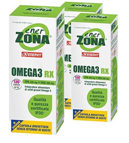 3x EnerZONA Omega-3 RX 120 compresse