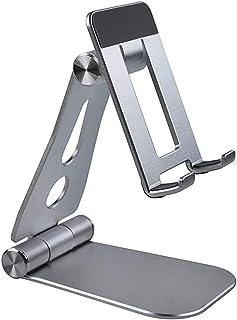 HJJ Tenedor de standphone Ajustable de ángulo de Altura, Soporte de teléfono Celular de Escritorio Totalmente Compatible, ...