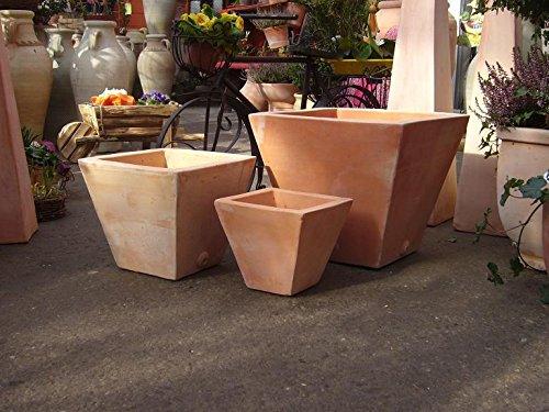 Blumentopf echt Terrakotta 20 cm , Blumenkübel für Garten und Wohnung Terracotta ........... kein Kunststoff, Blumen