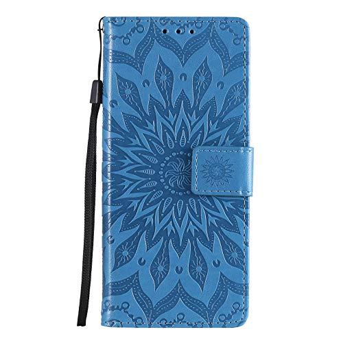 Hülle für Sony Xperia 5 II Lederhülle Flip Tasche Klappbar Handyhülle mit [Kartenfächer] [Ständer Funktion], Cover Schutzhülle für Sony Xperia 5 II - JEKT033459 Blau