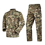 Militär-Kampfanzug 2020 Militär-Camouflage Multicam Anzug Kleidung Taktische Airsoft Paintball Ausrüstung Gr. L, CP