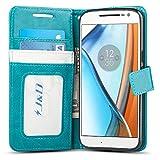 J&D Case Compatible for Moto G4 Case/Moto G4 Plus Case, Wallet Stand Slim Fit Heavy Duty Shock Resistant Flip Cover Wallet Case for Motorola Moto G4/G4 Plus Wallet Case, Not for Moto G4 Play