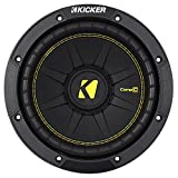 Kicker 44CWCD84 CompC 8 Inch 4 Ohm 200 Watt RMS Power and 400 Watts Peak Power Dual Voice Coil Car Audio Sub Subwoofer, Black