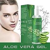 Aloe Vera Gel - 100% Bio für Gesicht Haare Körper,Feuchtigkeitscreme für Sonnenbrand Reparieren,Natürliche Feuchtigkeitspflege Aloe Vera Creme für trockene strapazierte Empfindliche...