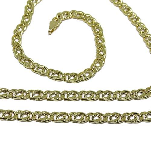 Cadena de Oro Amarillo para Hombre de 4mm de Ancha y 60cm de Larga Cierre mosquetón