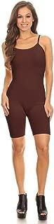 Stretch Cotton Bodysuit Women's Teamwear Metallic and Cotton Spaghetti One piece Jumpsuits Unitard Bodysuits(&Plus)