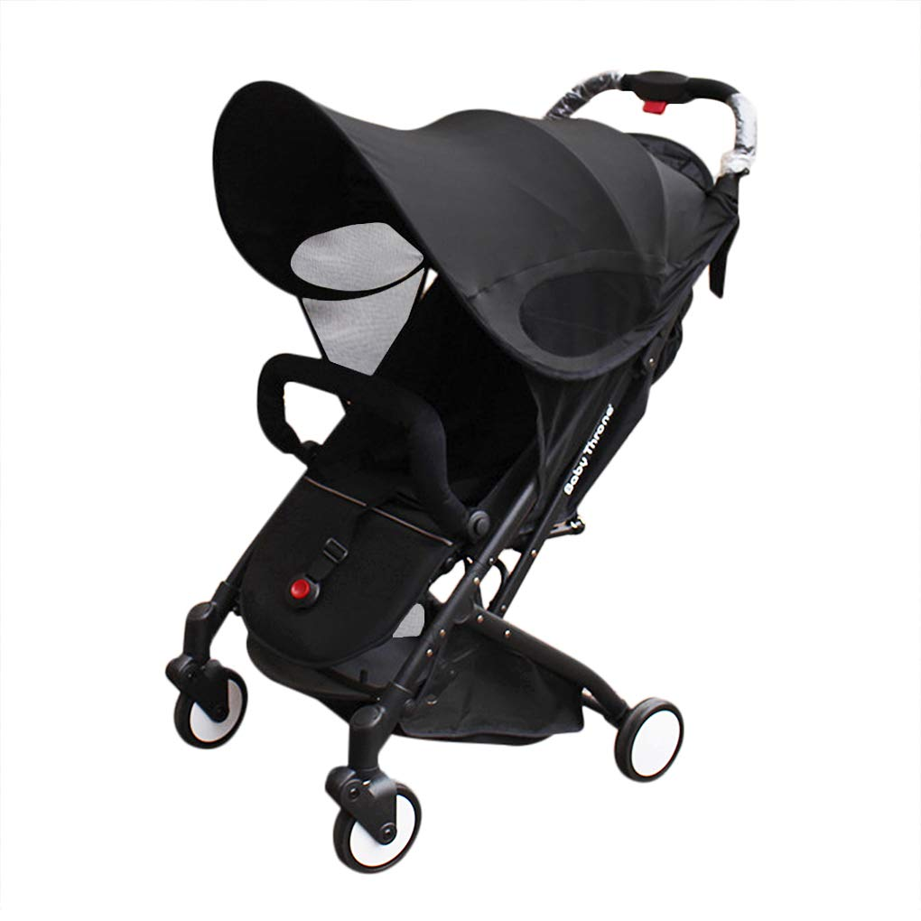 Waterproof Stroller Cover Sun Shade for Universal Fit Sunshade Sun Rain Cover Anti-UV Umbrella Canopy Parasol for Carriage Car Seat Stroller Jogger Accessories
