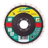 Wolfcraft 8424099 1 disque lamelle feutre meuleuse ø 115 vrac, Blanc