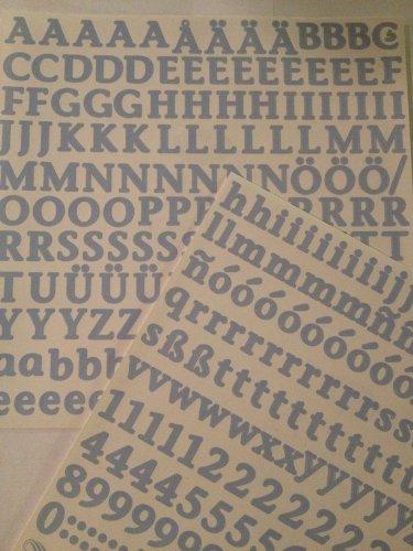 Stickers ABC/123 : Lettres Classiques Bleu clair par Creative Memories