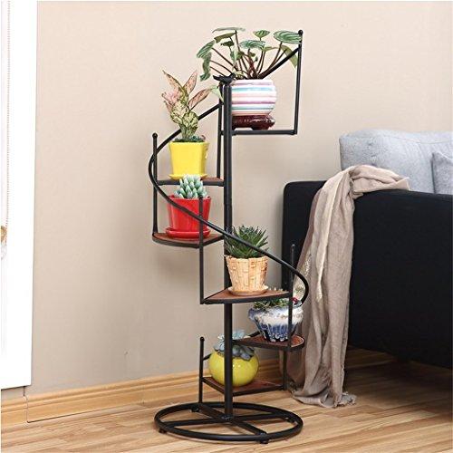 Cadre floral/Support pour plantes d'extérieur / 6/8 Tier style européen Rotate Ladder Flower Racks/fer métal fleur étagères étagère debout pour plante fleur Pots étagères Stand Rack jardin étagère