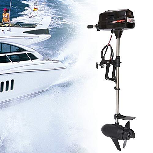 Motor fueraborda eléctrico de 3 CV, 24 V, 800 W, motor sin escobillas, motor para barcos hinchables, canoas y barcos de pesca, etc.