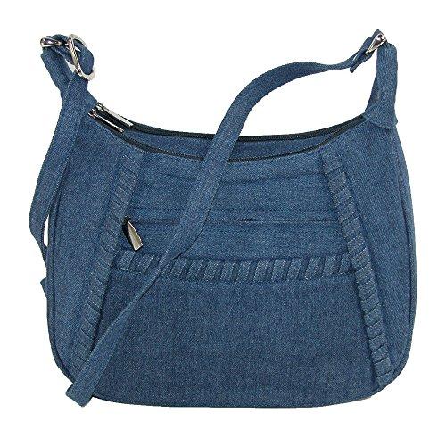 Lancôme Magnifique, Damen Schultertasche blau blau Einheitsgröße Gr. Einheitsgröße, denim