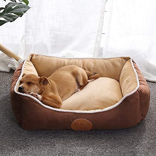 Bedden & sofas grijs + beige kasjmier + anti-slip doek + driedimensionale kattenstrooi van zeer elastisch katoen afneembaar en wasbaar schattig huisdiernest huisdieren in verschillende maten bed