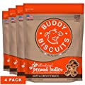 Buddy Biscuits, Soft & Chewy Treats for Small & Large Dog, Made in USA Peanut Butter Flavor - 6 oz, 4 Pack