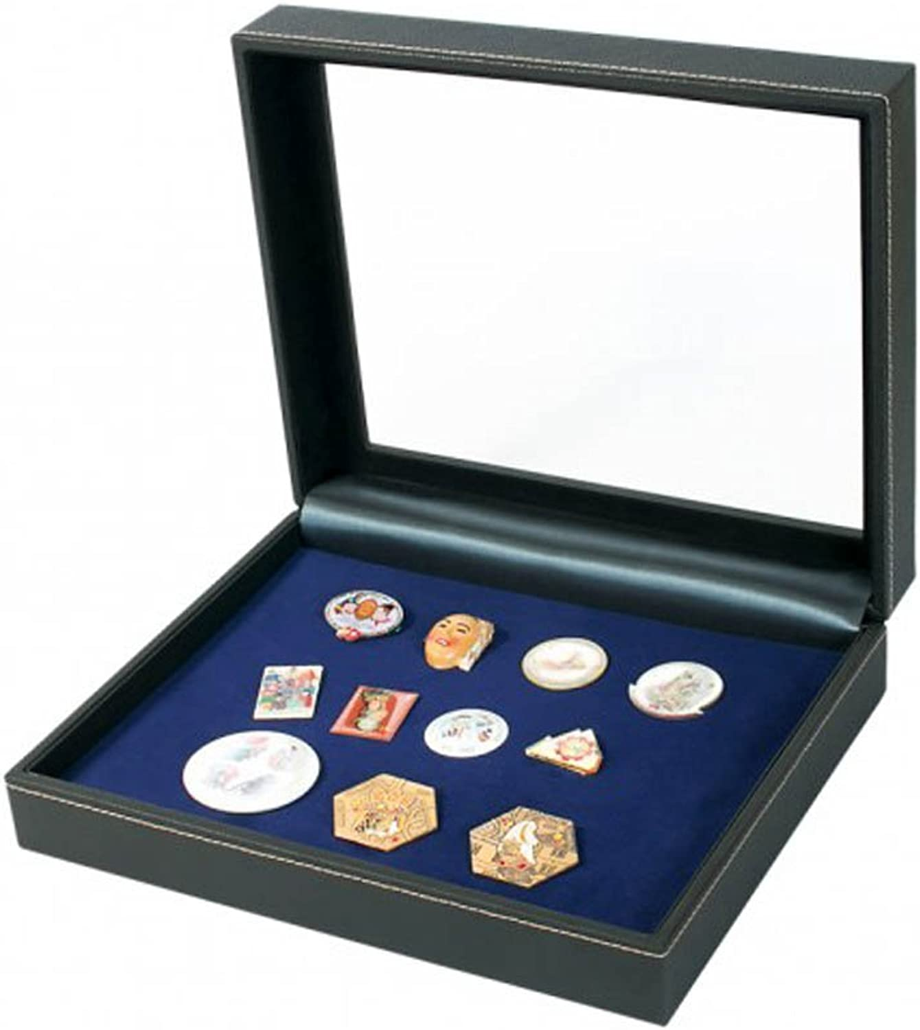 Lindner 23692419E Collecting case NERA VARIUS PLUS with dark bluee insert for pins,medals and emblems
